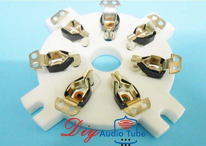 High Contact Resistance  Tube Sockets Silver Plated Ceramic Sockets For 6C33 FU29