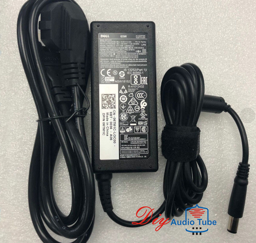 Charger LA65NS2-01 6TM1C 1XRN1 928G4  AC Adapter 65W 19.5V 3.34A DELL E6400 E6520 E5400 E5540 E6540 E6550