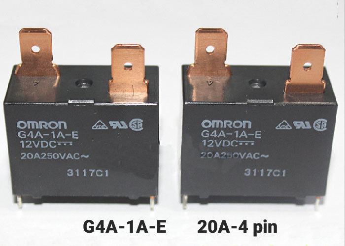 Omron Power Relay G4A-1A-E-5VDC/ 12VDC/ 24VDC - 20A (4 Pin)